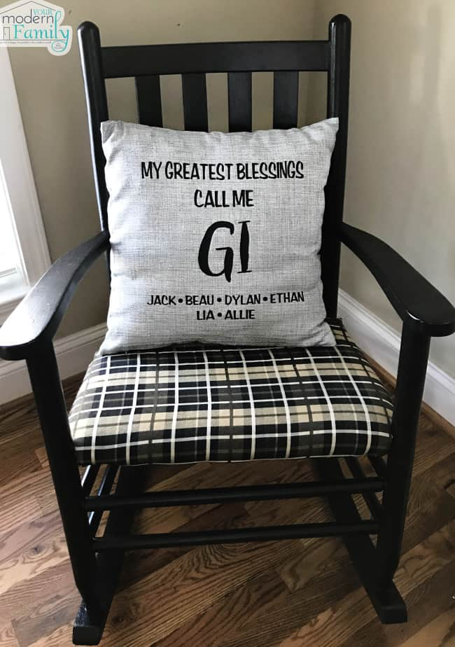 personalized pillow for grandma