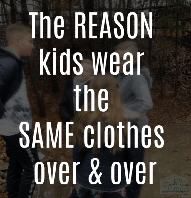 The reason kids wear the same clothes over & over