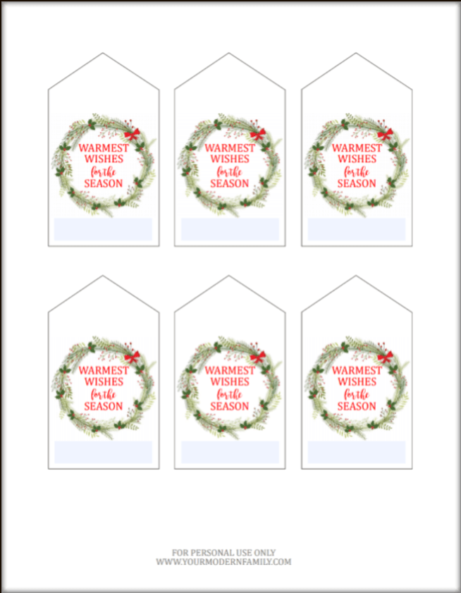 muffin printable tags