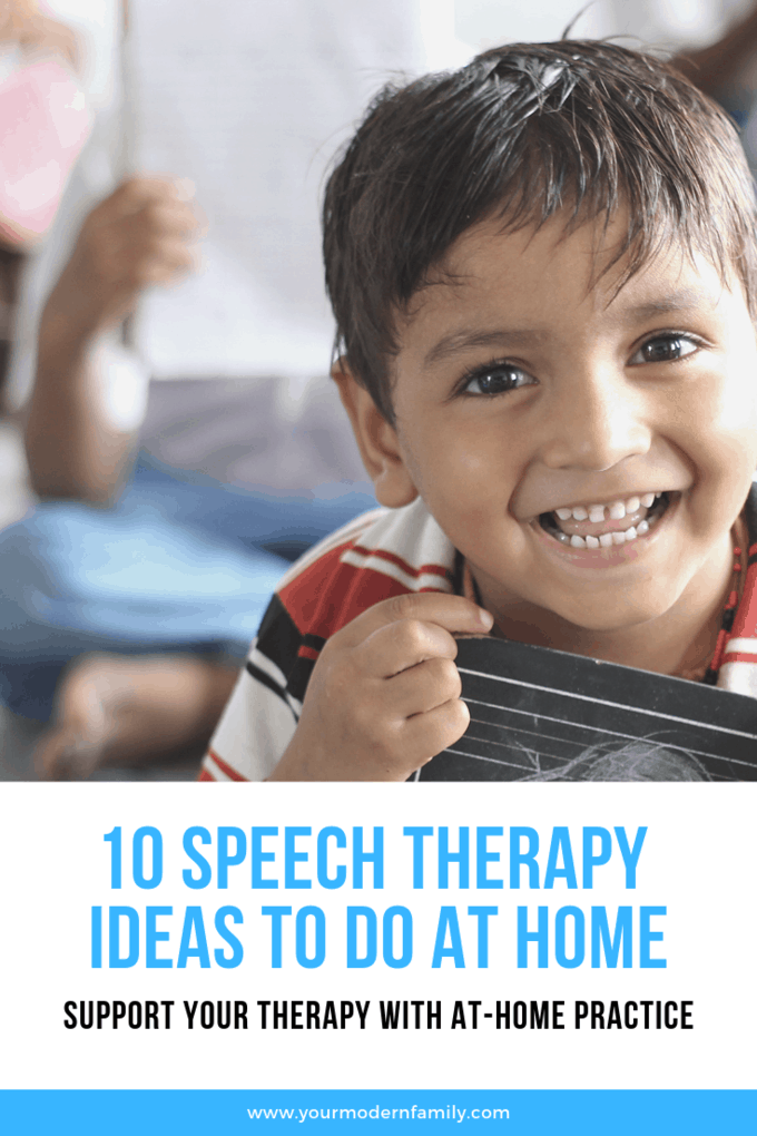 10 speech therapy ideas to do at home (support your therapy with at-home practice) #Speechtherapy #toddler #preschooler