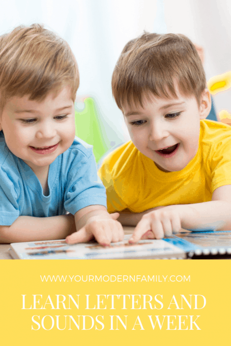How to teach kids letters & sounds in ONE week