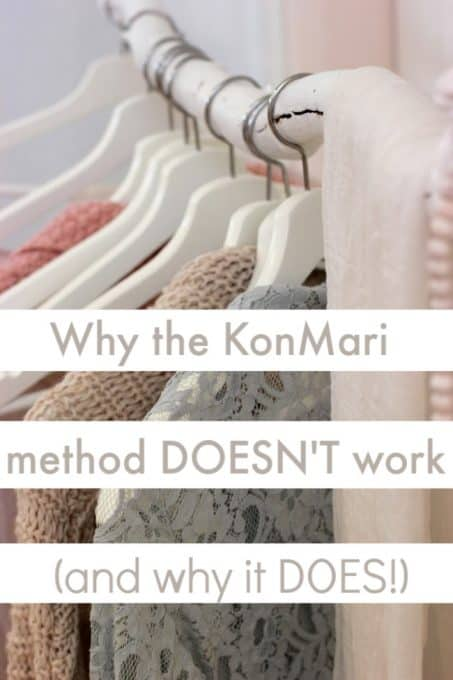 A close up of clothes hanging in the closet.