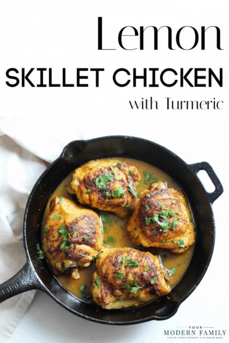 pin for Anti-Inflammatory Lemon Turmeric Skillet Chicken