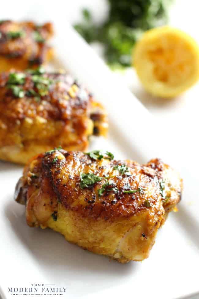 Anti-Inflammatory Turmeric Lemon Skillet Chicken