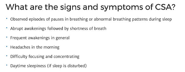 Text with symptoms listed below it.