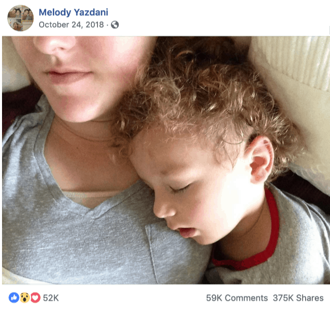 A child sleeping on a woman\'s shoulder.