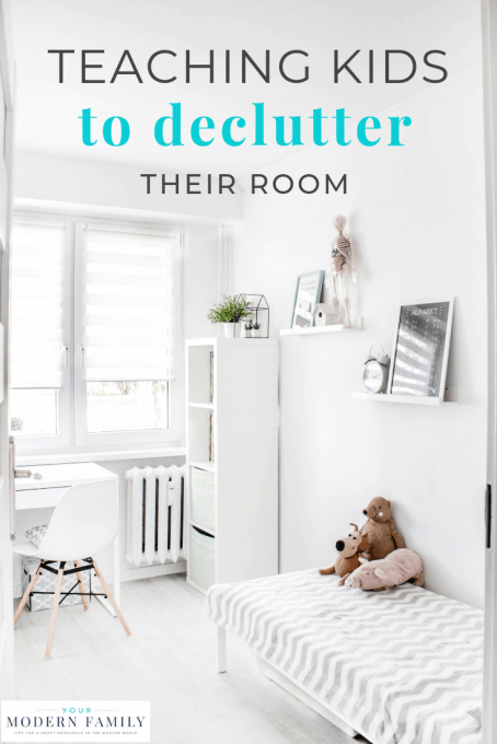 teaching kids to declutter