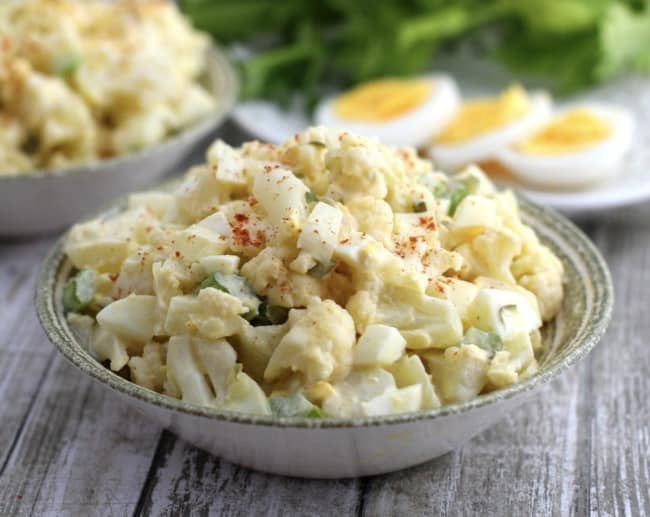 "Low Carb Cauliflower ""Potato"" Salad"