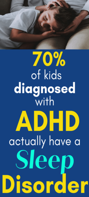 Yellow and white text concerning ADHD.