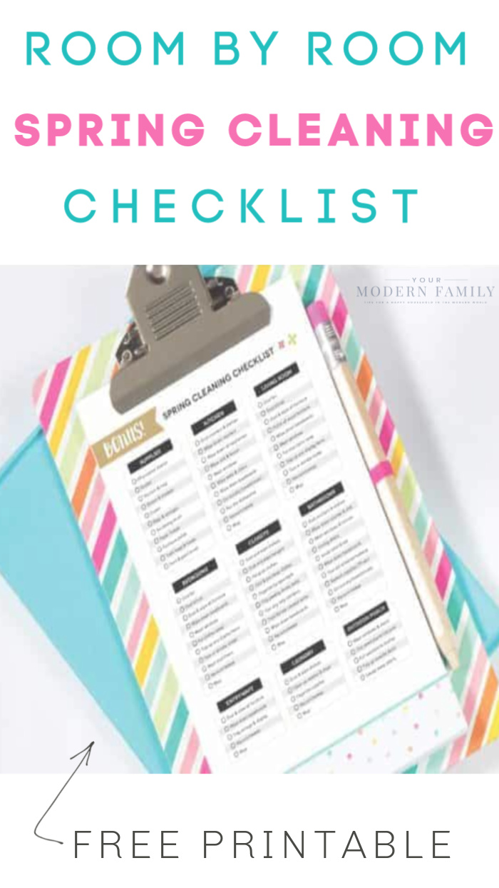 spring cleaning checklist to print