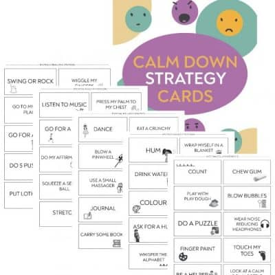 calm down strategy cards