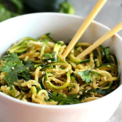 Vegan Asian Zucchini Noodles