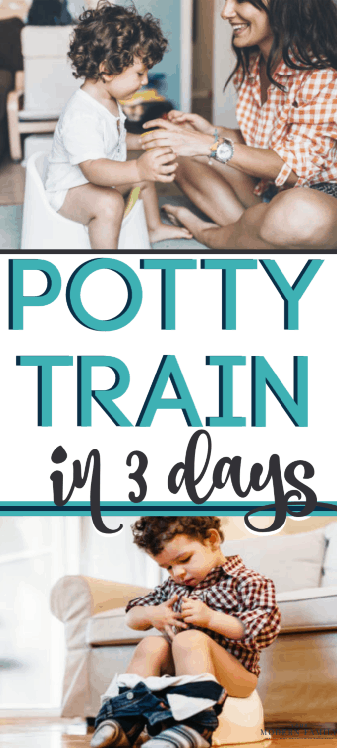 Potty training in three days works! Potty training boys or girls without a potty training chart or rewards is possible! Just follow these potty training tips. (Check out the Potty Train in a Weekend book, too!)