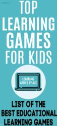 Top learning games for kids - online & offline