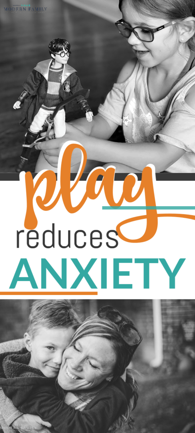 Text about how play reduces anxiety in kids.
