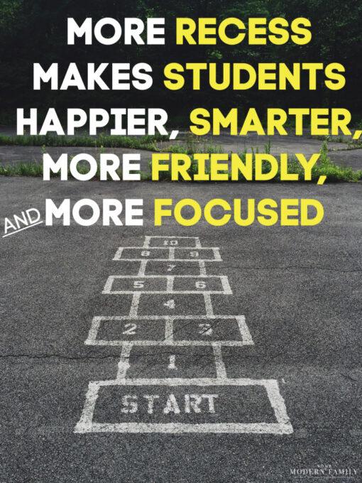 recess makes students preform better