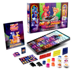 A group of colorful board games.