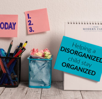 Pencils and office supplies in organizer containers.