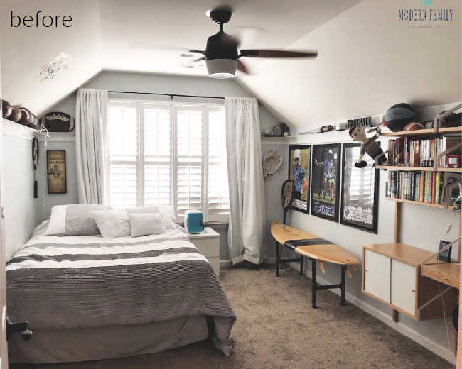 classic teenage boy bedroom before after