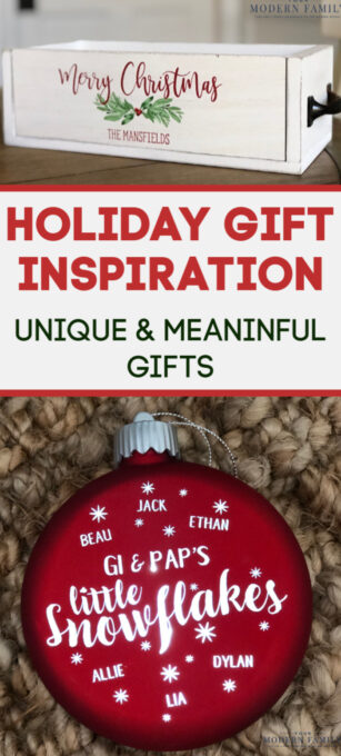 A close up of a gift giving idea text.