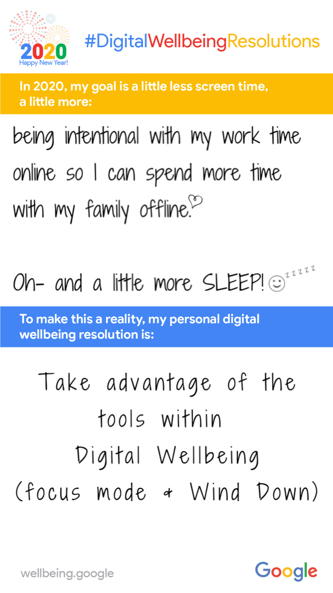 #DigitalWellbeingResolutions