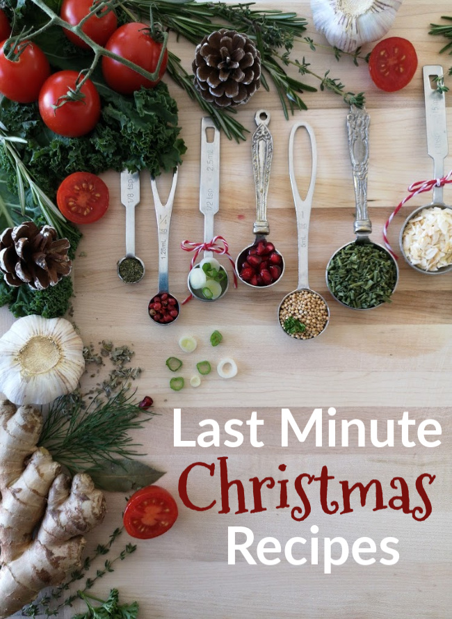 last minute Christmas recipes