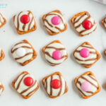 Valentines Pretzel Buttons with Hershey Kisses an