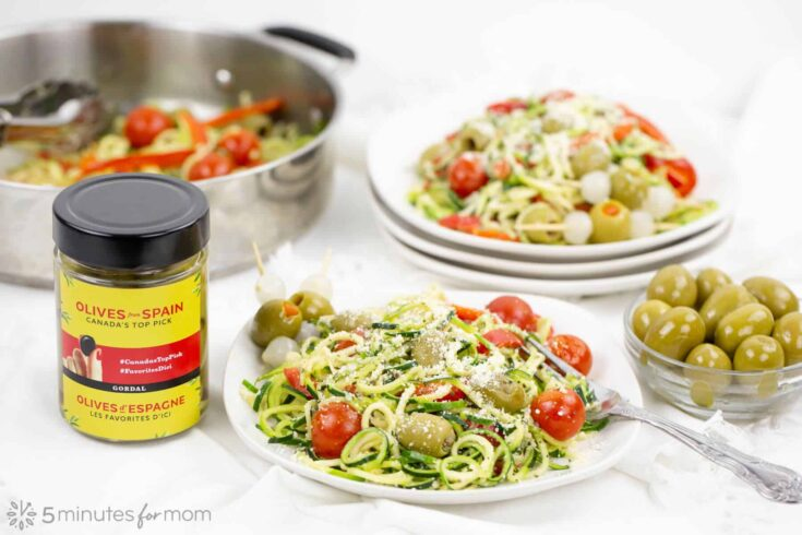 Zucchini Noodles with Olives from Spain