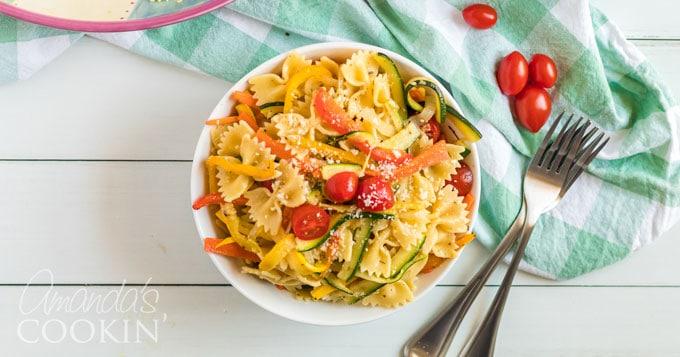 Pasta Primavera Recipe - fresh veggies and pasta