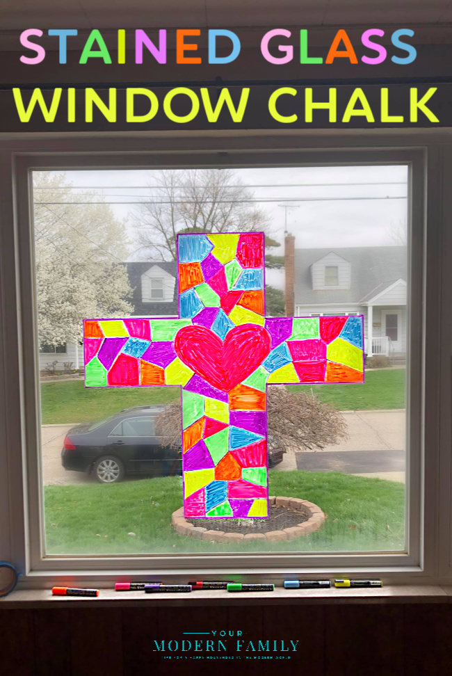 Stained Glass with Washable Window Chalk