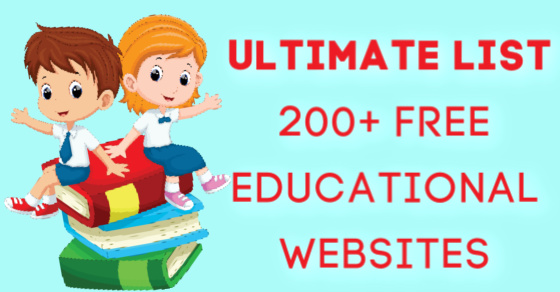 Ultimate List of Free Educational Websites for Kids due to school closures