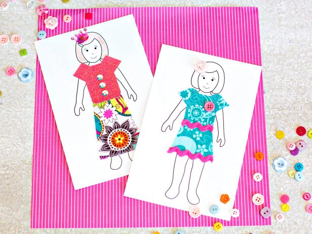 DIY Paper Dolls With Downloadable Patterns