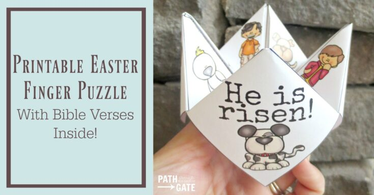 Printable Easter Finger Puzzle with Bible Verses