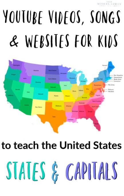 IDEOS, SONGS & WEBSITES TO TEACH US STATES & CAPITALS
