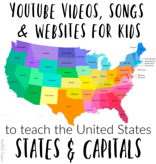 YOUTUBE VIDEOS, SONGS & WEBSITES TO TEACH US STATES & CAPITALS
