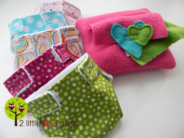 Baby Doll Diapers, Wipes & Wipe-Container