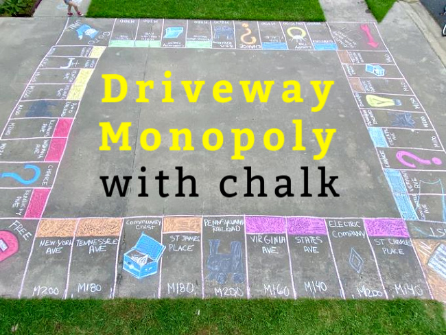 Chalk Art - Chalk Games on the driveway