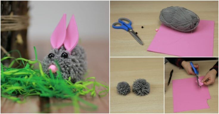 Make an Easter Bunny From DIY Pom Poms