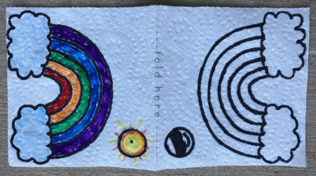 Science Experiments with Water ~ Paper Towel Hidden Messages