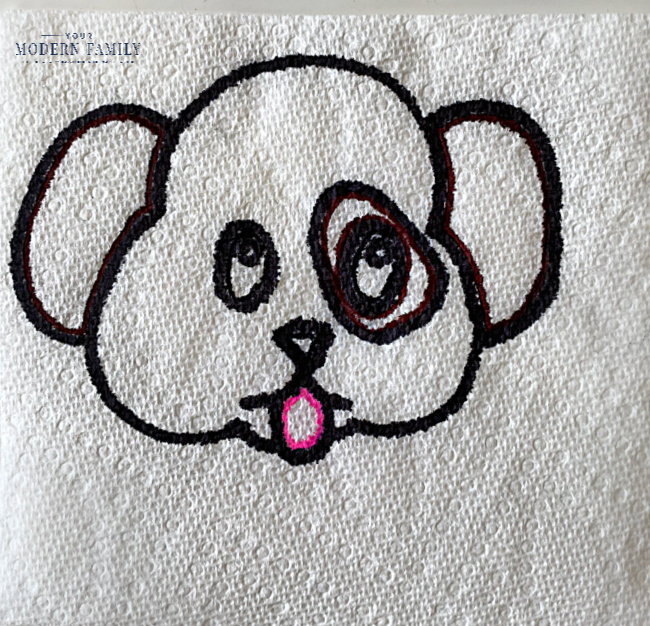 Science Experiments with Water _ Paper Towel Hidden Messages - puppy dog