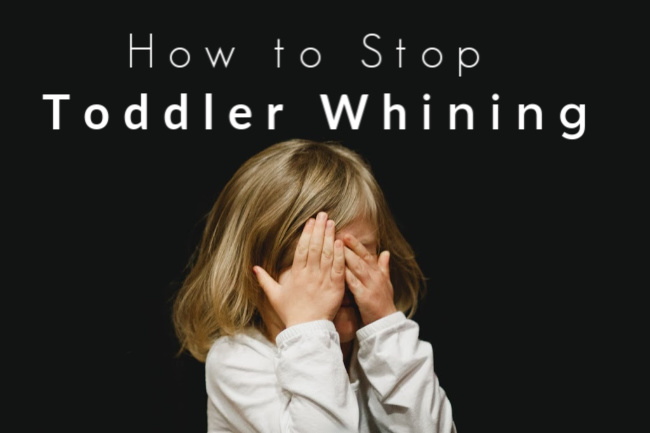 toddler whining with hands over eyes.