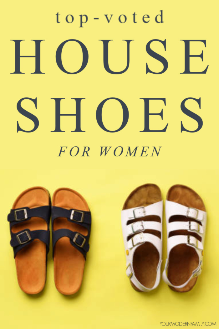 top voted house shoes - two sandals on yellow background
