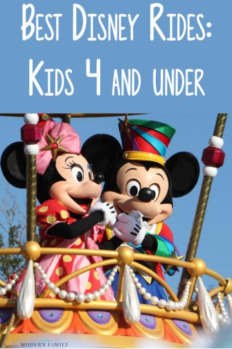 best Disney rides ages 4 & under