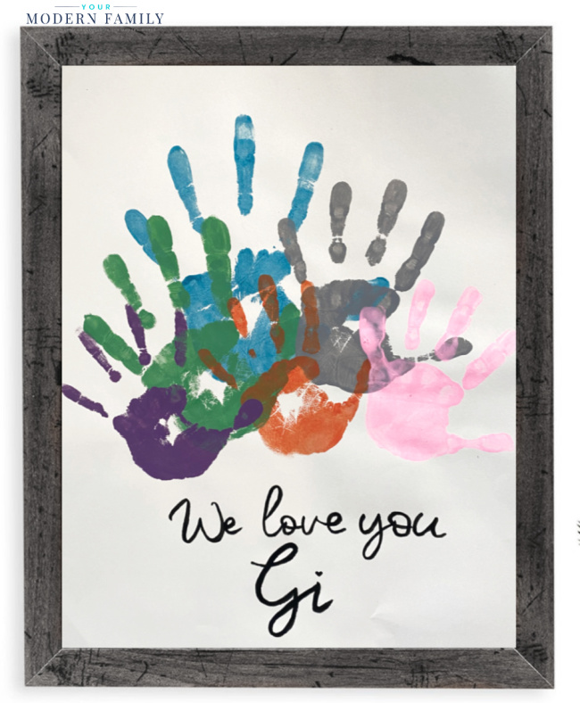 handprint gift for parents