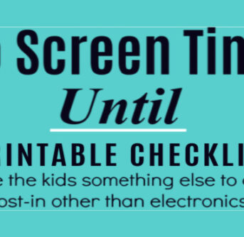 No Screen Time Until printable chart