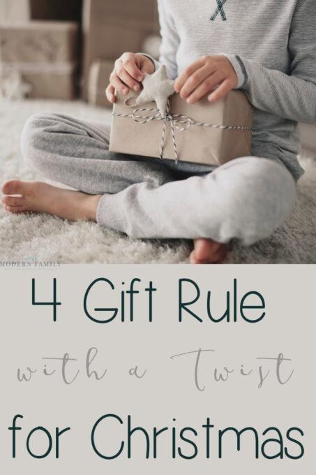 4 gift rule for Christmas