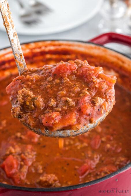 Recipe for Great Grandmas Homemade Italian Sauce