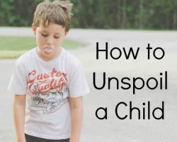 How to un-spoil a child